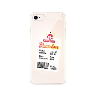 Hello DunDun series of transparent jelly mobile phone soft shell 10. movie ticket