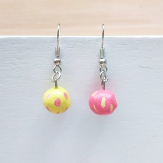 Girl's candy (pink yellow) | earrings | ear hook