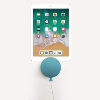 BalloonDock Wallmount iPhone Charger (Gray Blue)
