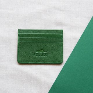 H - LEATHER CARD HOLDER/WALLET-GREEN