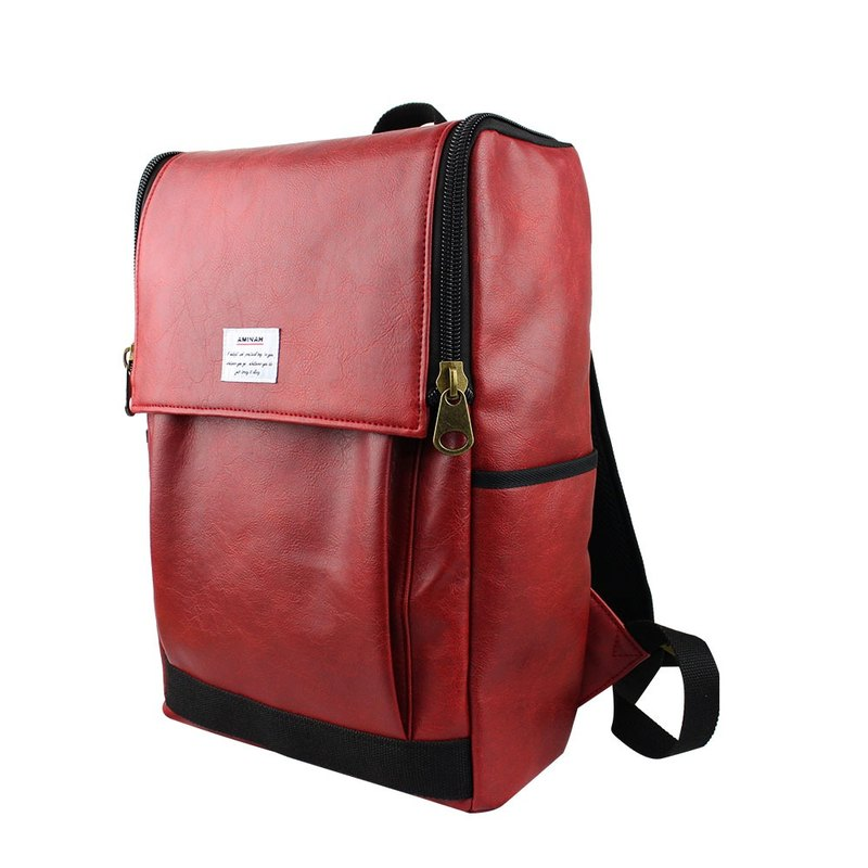 AMINAH-red personality backpack [am-0295]
