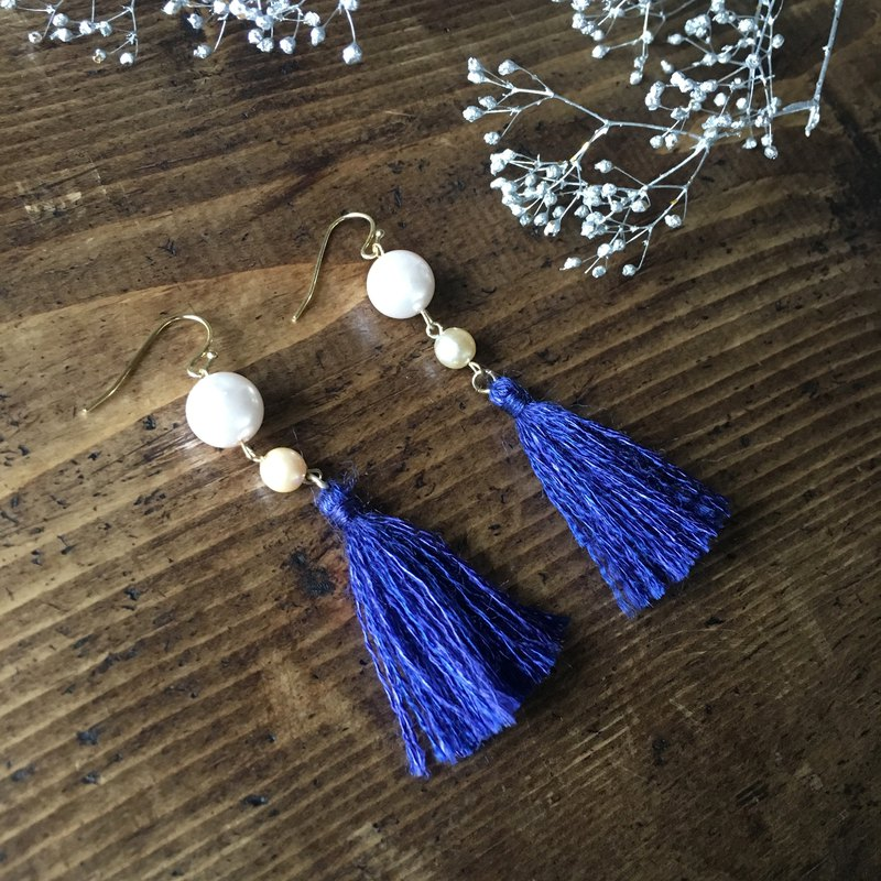 Tassel earrings  Deep Blue 3