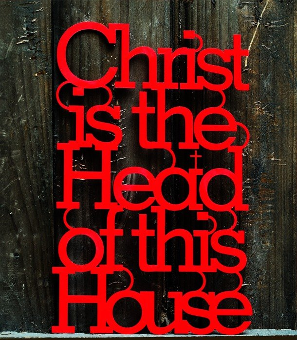 Christ is the Head of this House  Scripture / wall stickers / decoration / Gifts
