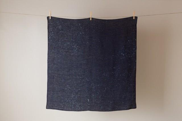 The indigo dyeing hemp wrapping cloth (starry sky)