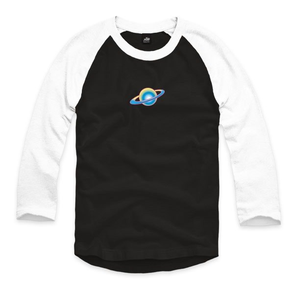 Interstellar communication - Black / White - Sleeve Baseball T-Shirt