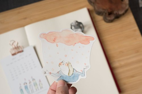 "large stickers ""the pink rain"" 