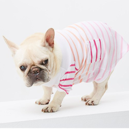 Textured Stripe Casual Pet Clothes - Wide Edition
