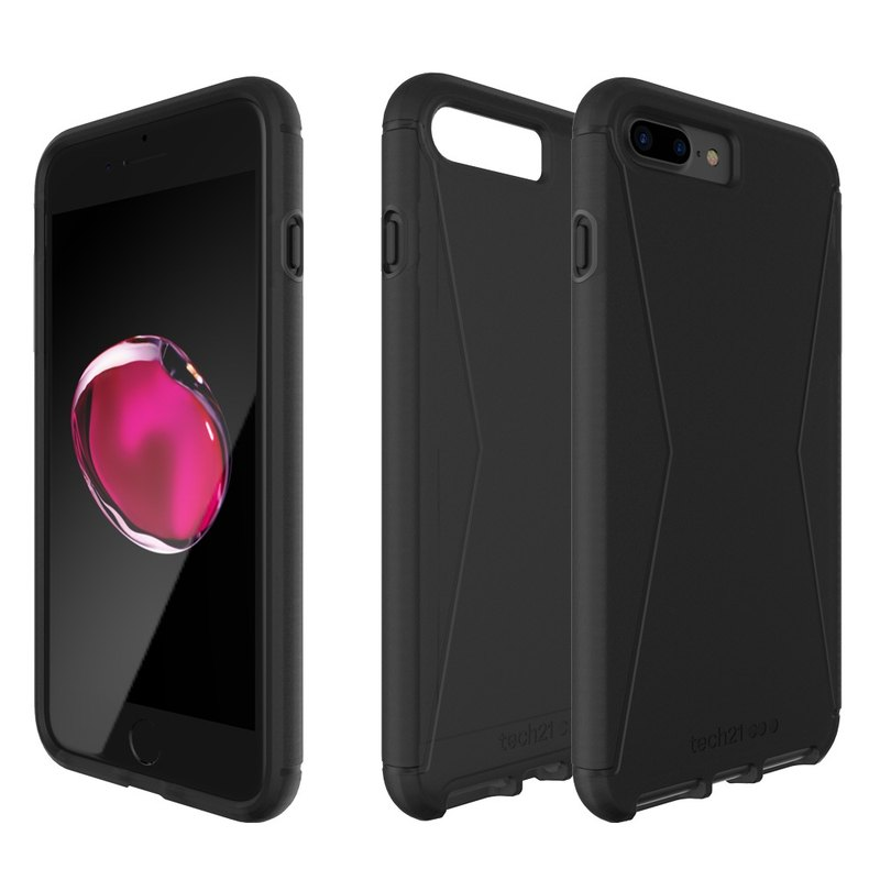 Tech21 British super-impact crash Evo Tactical iPhone 7 Plus Soft Case - transparent black (5055517362740)