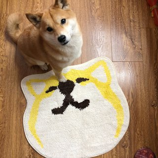 2018 Barnyard New Products Big Face Shiba Ink Expression Antiskid Mat 02 Blinking Eyes