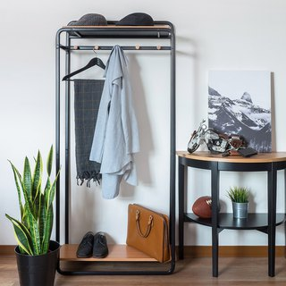 LIGFE Free Stand Closet With 2-MDF Shelves