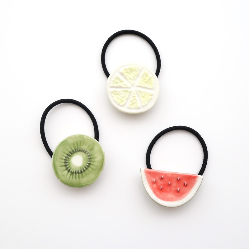Cut fruit hair tie