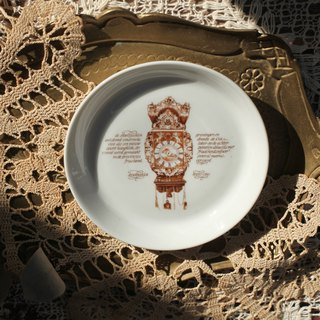 [Good day fetish] 1 German vintage retro antique clock commemorative snack plate