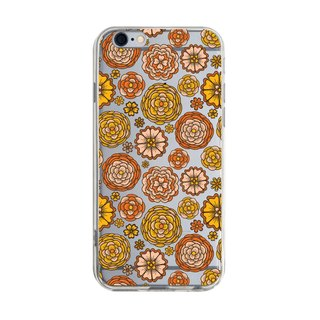 Orange flowers - Samsung S5 S6 S7 note4 note5 iPhone 5 5s 6 6s 6 plus 7 7 plus ASUS HTC m9 Sony LG G4 G5 v10 phone shell mobile phone sets phone shell phone case