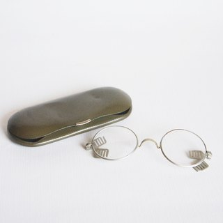 Early German old goods antique metal rubber band glasses