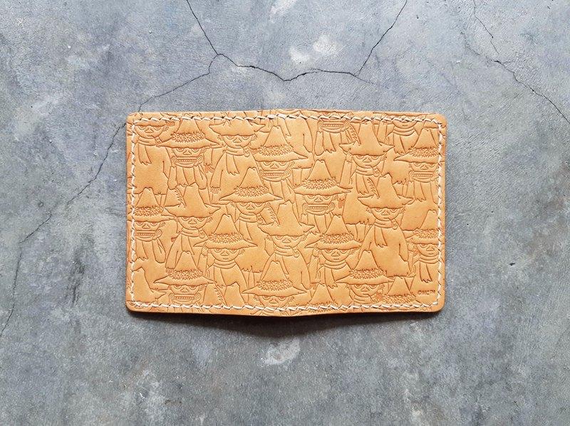 MOOMINx港產皮革 對摺咭套 材料包 卡片 好好縫 正式授權 史力奇