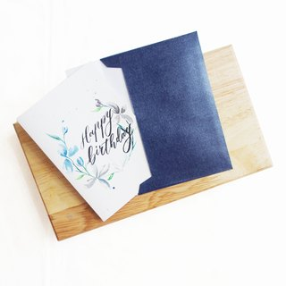 Mstandforc Ink florals Handmade Card|Happy Birthday
