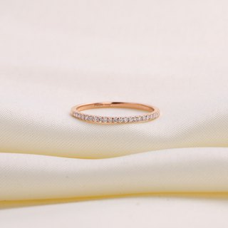 【PurpleMay Jewellery客人訂製款】 18k/14k Rose Gold Full Eternity Diamond Ring R024