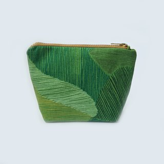 Coin Purse, Coin Pouch, Abstract Minimalist, Green, Mountain, Small Travel Pouch