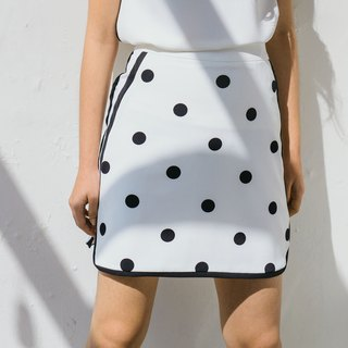Chic Polka Dot skirt - White