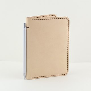 Multi-function passport holder / Notepad (with blank notepad) - Original leather color