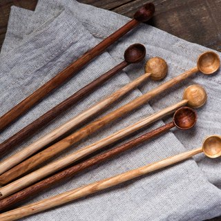 Clean up. Hand made wood stir spoon - teak / wood