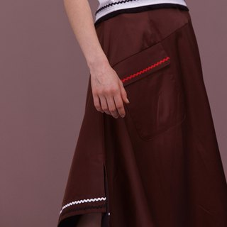 ENVOL AVEC NING irregular piping hem - coffee