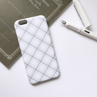 Rhombic mobile phone case hard shell iPhone Android