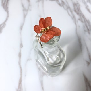 Bird flowers floral :: three-dimensional non-flowering immortality flower tile red hydrangea ring ring refer to RING