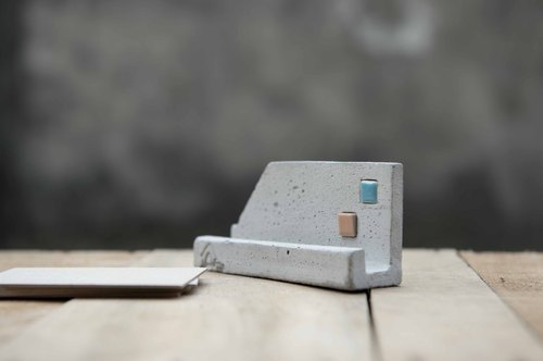 Cement Business Card Holder