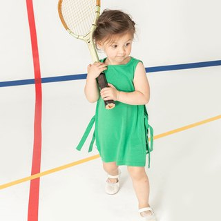 Casual Wind Side Strapless Sleeveless Girls Dress