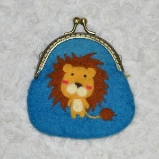 Wool felt little lion mouth gold package
