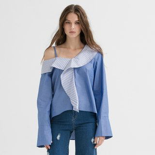 VACAE Hemming Geometry Shoulder Top