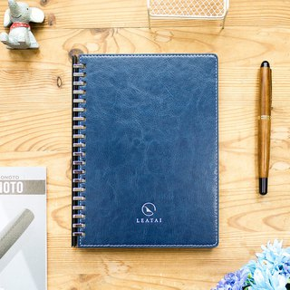 Loose leaf removable A5 notebook-Blue Cover