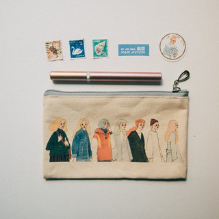 Peer canvas pencil bag