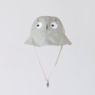 [Hide hat-cement ash] lightweight washed cotton children's visor