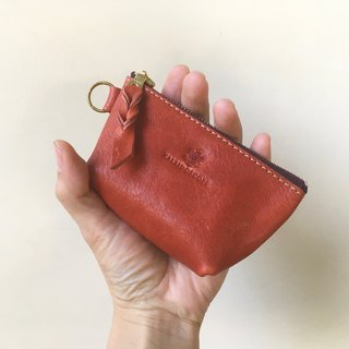 JAPAN Leather Nume leather mini pouch barco terra cotta