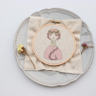 Flora Fu Lola illustration embroidery material package