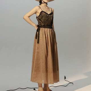 High Waisted Sheer Maxi Skirt