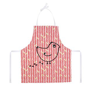 Good times in the kitchen child apron Chevron Rouge Coquito
