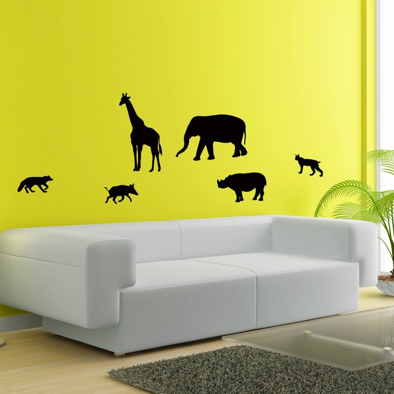"""Smart Design"" Creative wildlife Seamless wall stickers ◆ 8 color options"
