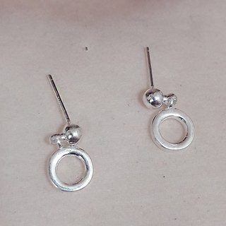 Donut 925 Sterling Silver Earrings (Boxed)