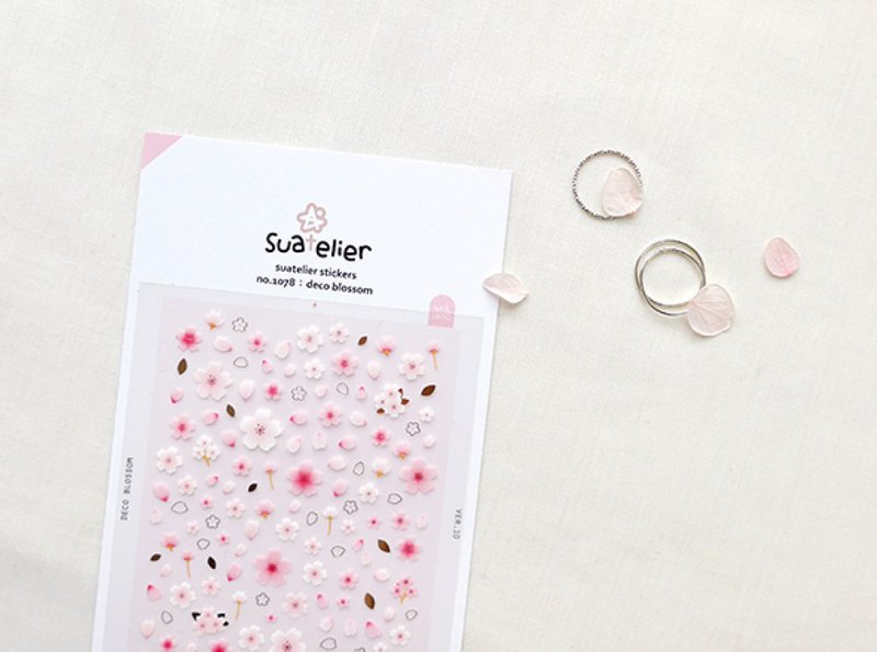 Cherry blossom nail sticker powder card decoration sticker hand book Wenqing gift diary Korea