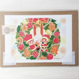 Christmas wreath poster no.035