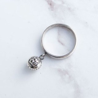 Big staff Taipa [manual Tainan specialty] good luck (pregnancy) 椪 sterling silver ring wish good luck pregnant