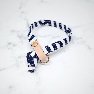 Cat collars, Dark blue stripe_CCK090439