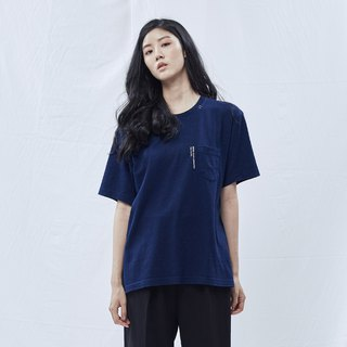 DYCTEAM - Indigo Pocket Tee (Deep blue)