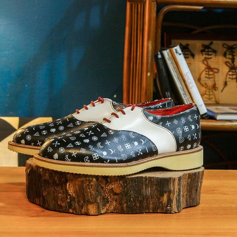 【展示打樣品】純手工訂製 馬鞍鞋-SA03 黑色 皮鞋 男 紳士鞋