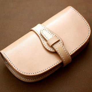 Natural leather wallet (belt type)