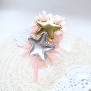 Children hair bands gold and silver stars head hoop head ornaments