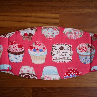 Handmade custom = daily necessities = handmade masks = Japanese fabric * cup cake party = pink